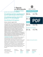 Liberty Global Q2 2018 Press Release