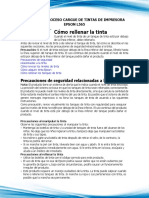 Manual de Proceso Cargue de Tintas de Impresora Epson l565