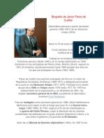Biografía de Javier Pérez de Cuéllar