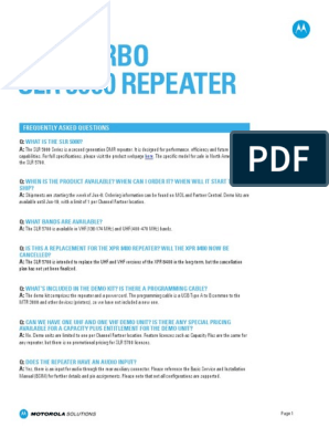 Slr 5000 Repeater Faq | Electrical Connector | Media Technology