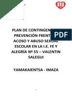 Plan de Contingencia y Prevención Frente Al Acoso y Abuso Sexual Escolar en La i