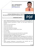 CV for Project Manager - Engineer