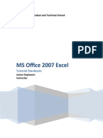 MS Office 2007 Excel