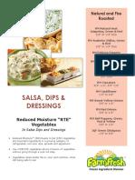 salsa dips   dressings application sheet