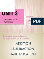 3.2 Operation Matrices