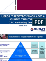 LIBROS Y REGISTROS VINCULADOS A ASUNTOS TRIBUTARIOS JUNIO 2010 C.P.C Martha Choy Zevallos.pdf