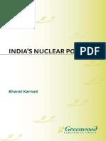 Bharat Karnad Indias Nuclear Policy