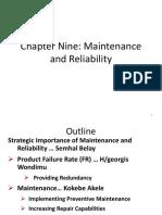 HTM Chapter Nine ( Maintenance & Reliability )[1]