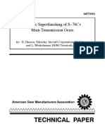 Isotropic Superfinishing of Main Gear AGMA 2006