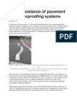 Shear Resistance of Pavement and Waterproofing Systems