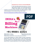 Billing Machines for Wholesale Best Prices in Chennai, Tamil Nadu - Jude Equipment Pvt Ltd 9500122321