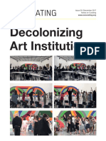 Oncurating 35_Decolonizing Art Institutions