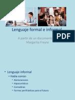 Lenguaje Formal e Informal 9no