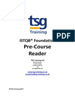 22 ISTQB Foundation 2012 - Reader - Precourse Reading v.05 New Template