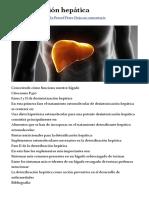 Detoxificación hepática - Bionutrición Ortomolecular