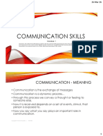 Communication Skills - Module 1 - PDF (1)