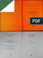 Lycophron - Alexandra (Ed. Mascialino, 1964)