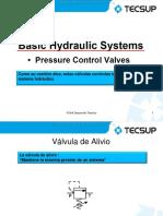 Curso Presion Sistema Hidraulico Valvula Alivio Simple Regulacion Pilotada Secuencia Contrabalance Moduladora Reductora