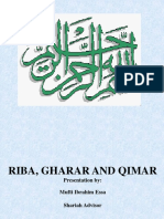 Riba, Gharar and Qimar