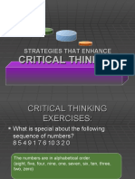 Strategies That Enhance Critical Thinking (For Nursing Students)