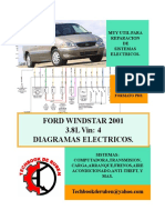 2001 Ford Windstar LIBRO de Diagramas