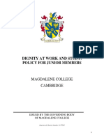 Magdalene College - Dignity at Work and Study Policy