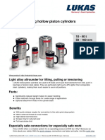 LUKAS Single-Acting Hollow Piston Cylinders