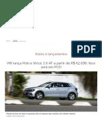 Volkswagen Polo e Virtus 1.6 ganham câmbio automático por R$