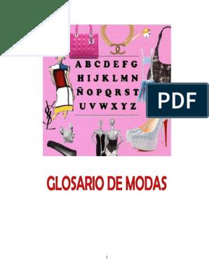 f06c72efe Glosario-de-Moda.pdf | Ropa | Moda y belleza