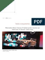 Mercedes-Benz Classe a Sedan Brasileiro