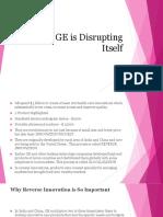 GE Disrupting