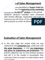 Evolution of Salesmanagement