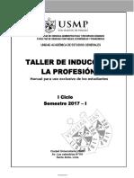 Taller de Induccion a La Profesion_manual 2017