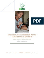 Dry Needling Courses for Pelvic Floor Physiotherapists
