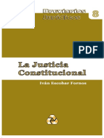 Iván Escobar Fornos. La Justicia Constitucional.