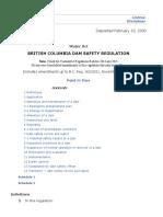 British Columbia Dam Safety Regulation