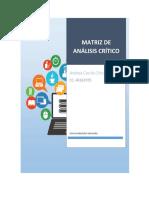 Matriz de análisis crítico