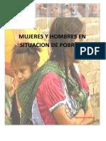 Mujeres y Hombres en Situacion de Pobreza