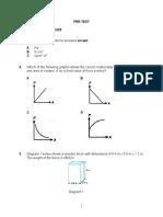 post test understanding of physics