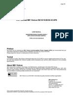 User Manual D-Series-33 10-30K Jan 2000
