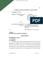 Delhi HC Judgment in Deere v. Malkit Singh Trademark Battle