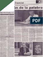 Tentación de la palabra, Mario Rommel Arce Espinoza (Mario Vargas Llosa)