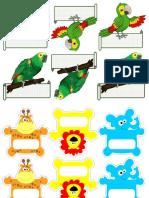 Solapines de Loros y otros animalitos