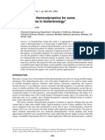 Molecular Thermodynamics for Some Applications in Biotechnology