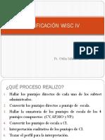 Calificación Wisc IV