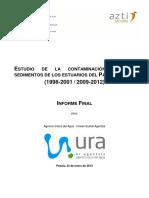 ESTUDIO DE LA CONTAMINACIÓN EN LOS SEDIMENTOS DE LOS ESTUARIOS DEL PAÍS VASCO (1998-2001 / 2009-2012)