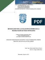 METODOLOGÍA PARA LA EVALUACIÓN ECONÓMICA EN LA REHABILITACIÓN DE POZOS PETROLEROS