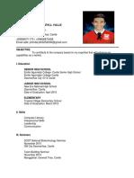 CV Format for RP