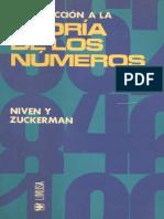 Niven, I., Zuckerman H. - Introduccion a la Teoria de los Numeros (1976, LIMUSA (WIley) Mexico).pdf