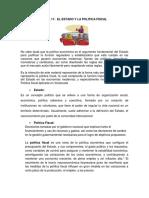 Tema 11 El Estado y La Politica Fiscal